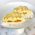Passion Fruit Pavlova dessert