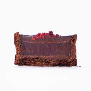 Petite Dark chocolate & raspberry tart