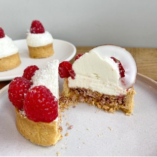 Coconut & Raspberry tart